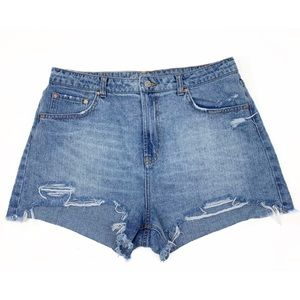 Wild Fable High Waisted Distressed Jean Shorts